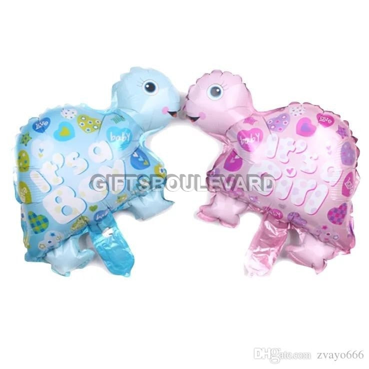 Turtle Gender Reveal FOil Balloon boy / girl