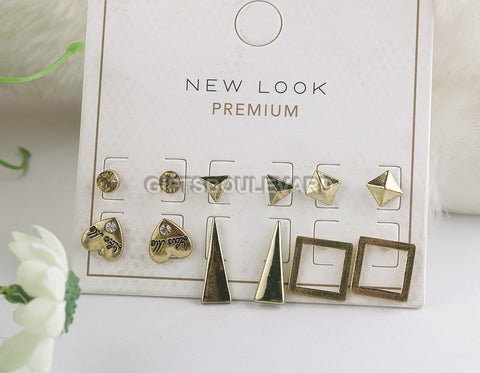 New Look Premium Stud Earrings For Womens 06 Pairs/Set