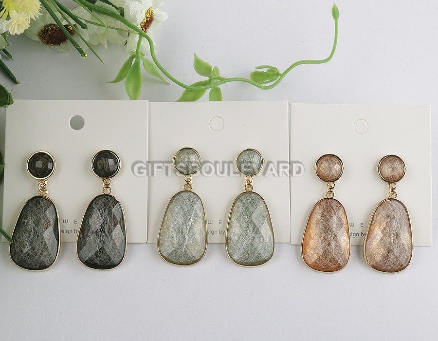 New Fashion Marble Style Earrings
