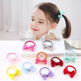 12 Pc Small Hair Bow Baby Girls Kids Elastic Hair Rubber Bands Ring Accessories For Children Tie Hair Rope Scrunchies Headwear
