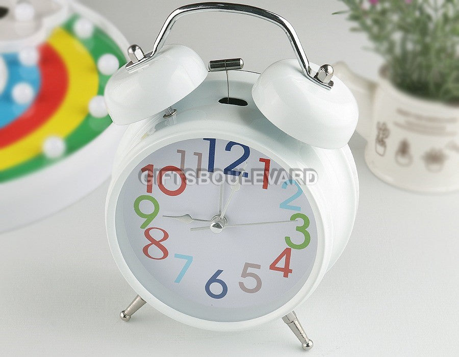 Retro Round Number Bell Desk Table Clock
