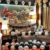 SILVER BLACK BIRTHDAY PACKAGE
