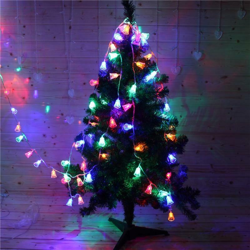 Christmas Tree Bells Shaped Fairy Light Led String Wedding Xmas Garland New Year