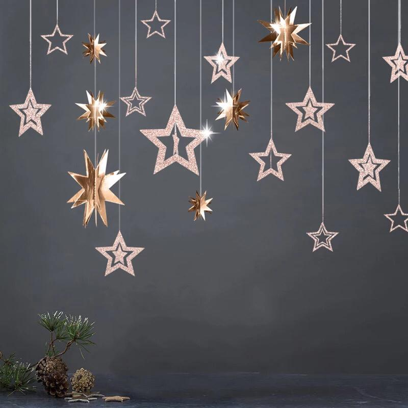 11 Pc Hanging Star Garlands