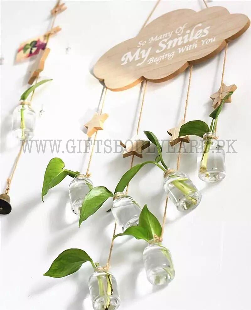 Creative Decorative Hydroponic Plant Glass Vase Transparent Hanging Wall Container Small Fresh Hanging Bottle Cloud Vase Pendant