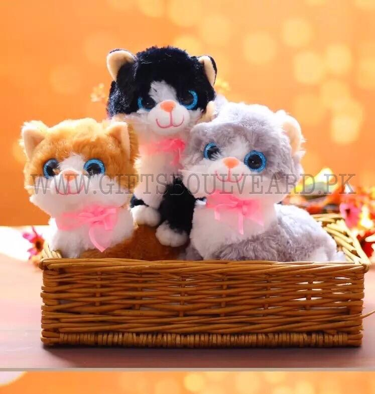 1pc Simulation Cat Plush Toy Doll Soft Toy Kitten Stuffed Animal Cat Pillow Stuffed Toys Mascot Children Toys Peluche