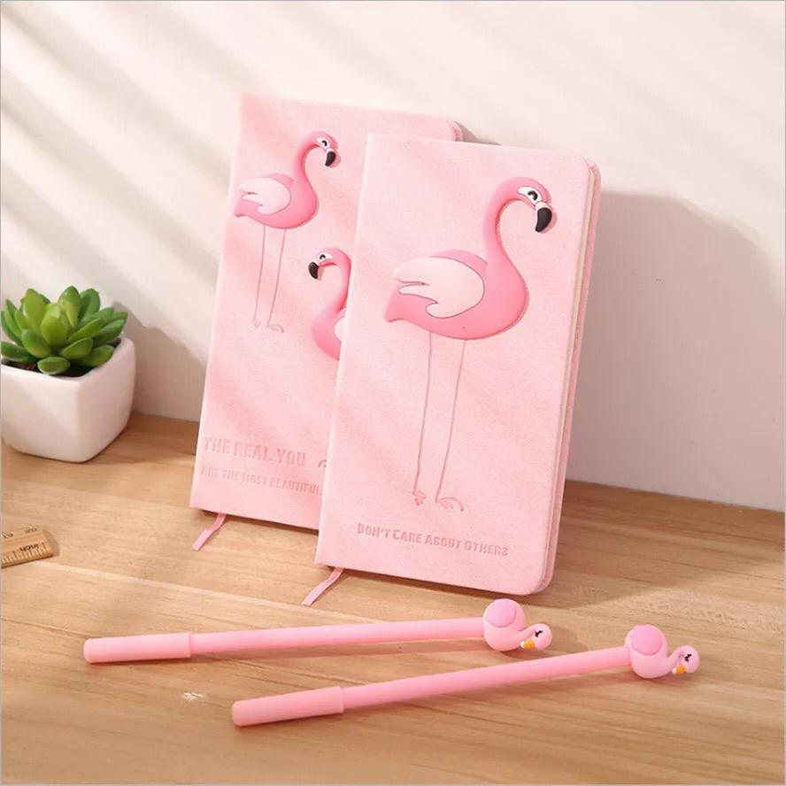 Flamingo Notepad With Pen