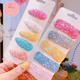 6 Pcs Square colorful Hairpins Headwear