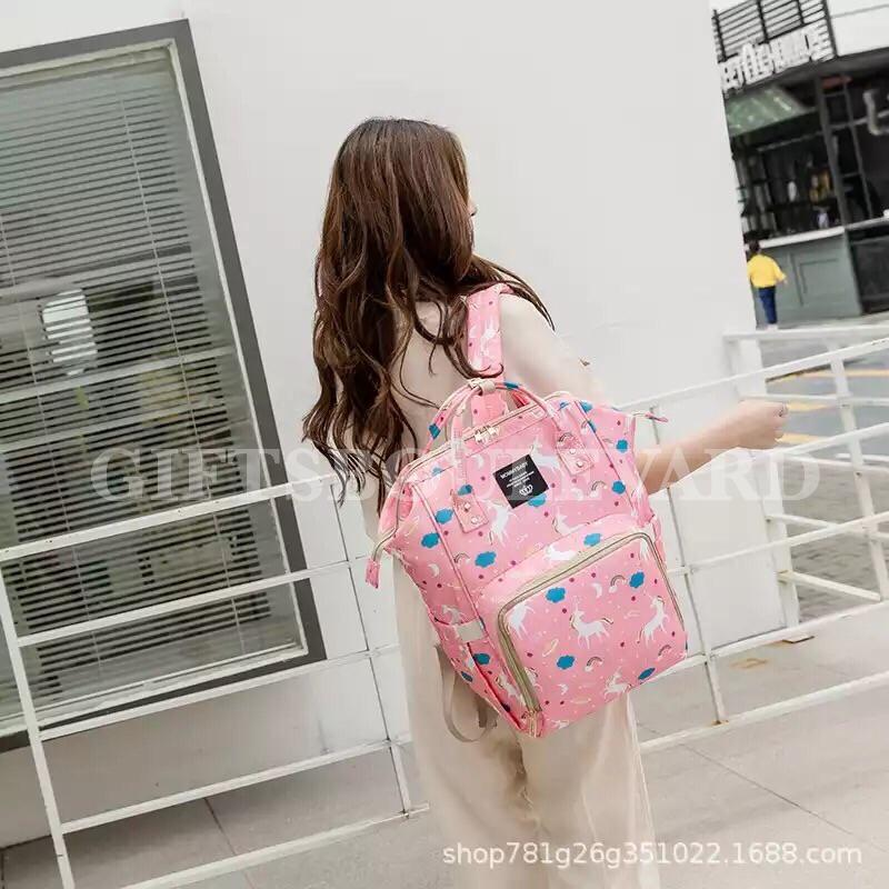 Diaper Bag Backpack Multi-Function Waterproof Mummy Travel Diaper Backpack Large Size
