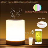Colorful Night Light With Bluetooth Speaker Smart Portable Wireless BLE Speaker Touch Control Desk Lamp