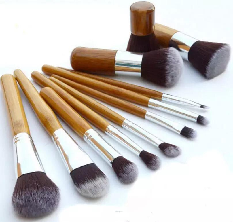 Bamboo handles 11 Pcs Professional Makeup Brushes