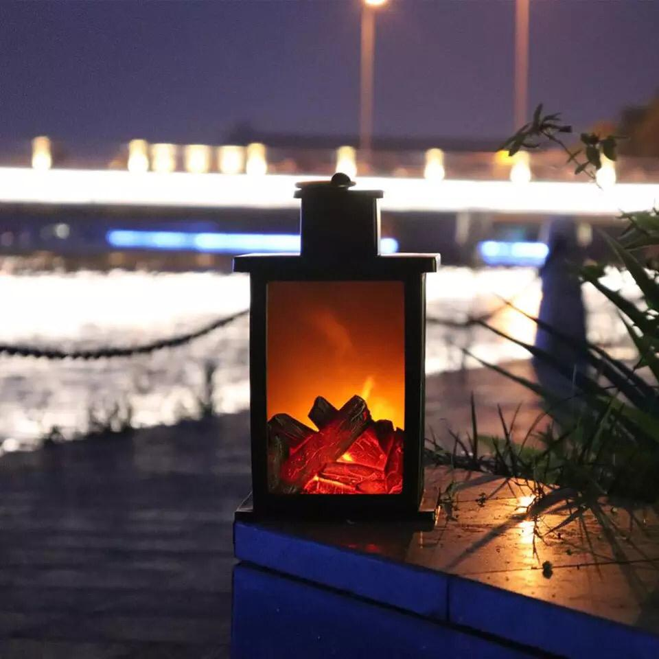 LED Burning Effect Fireplace Lamp Suitable for Lawn Garden Path Bedroom Lart Battery Operated Wall Lights