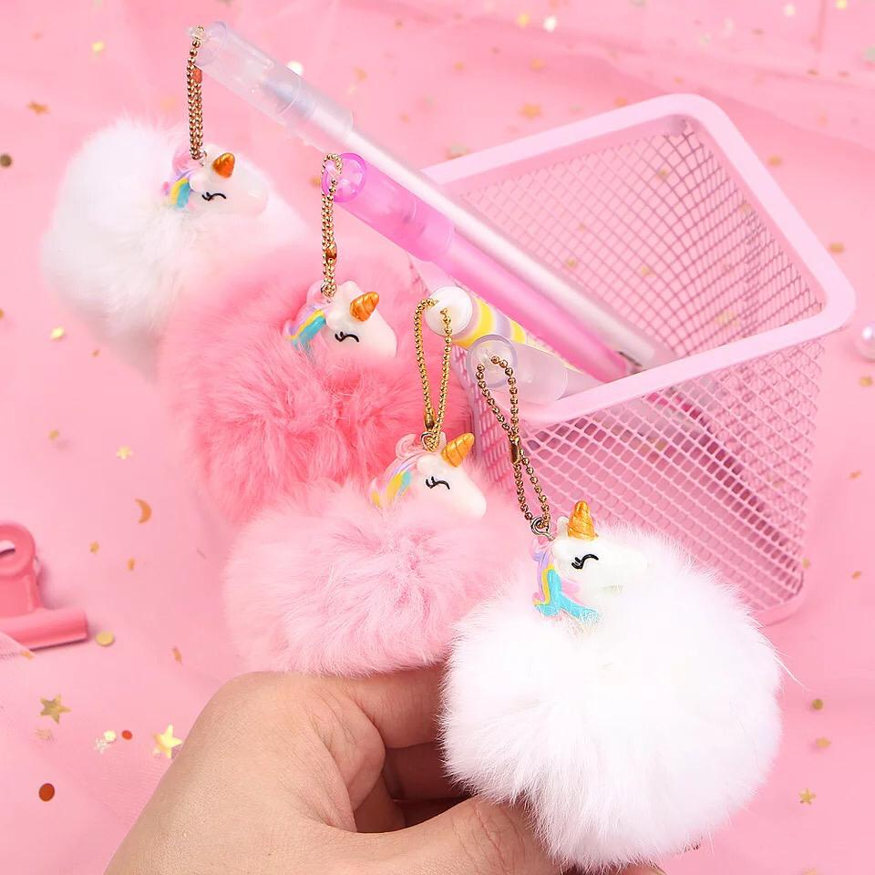 Cute Unicorn Pens Plush Ball Gel Pens