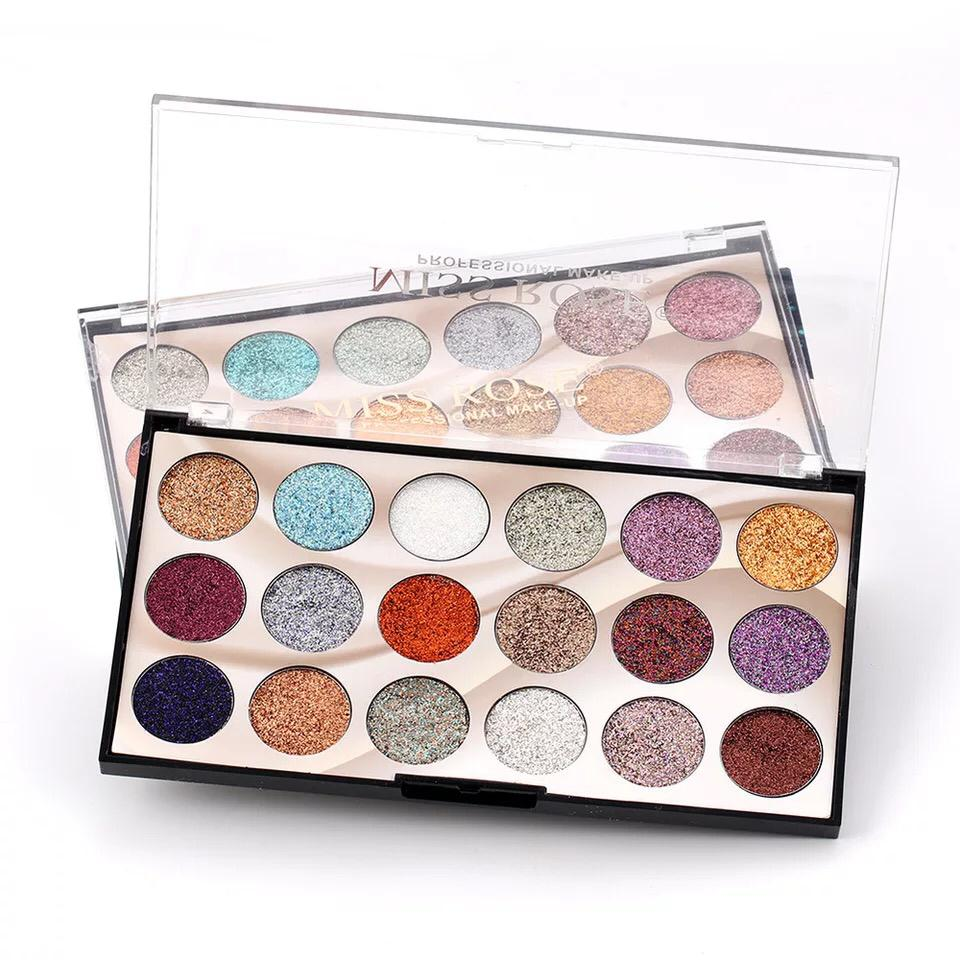 18 Color Professional Glitter Eyeshadow Pallete