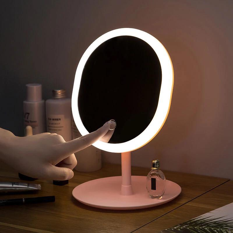 Led Mirror Makeup Mirror With Led Light Vanity  Mirror Light Desktop Mirror For Makeup