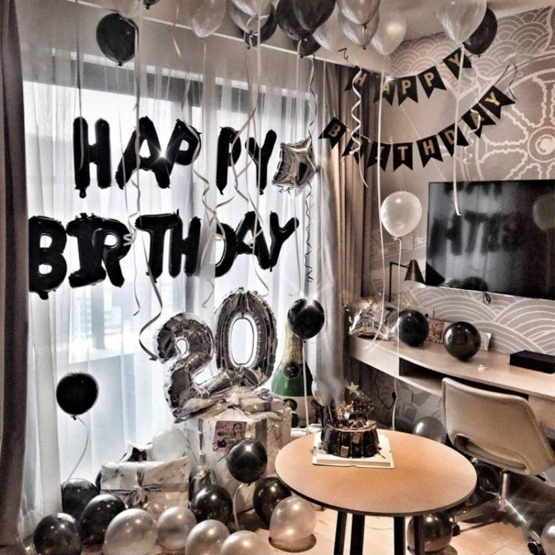 Birthday Packages Black With Silver Home Decor