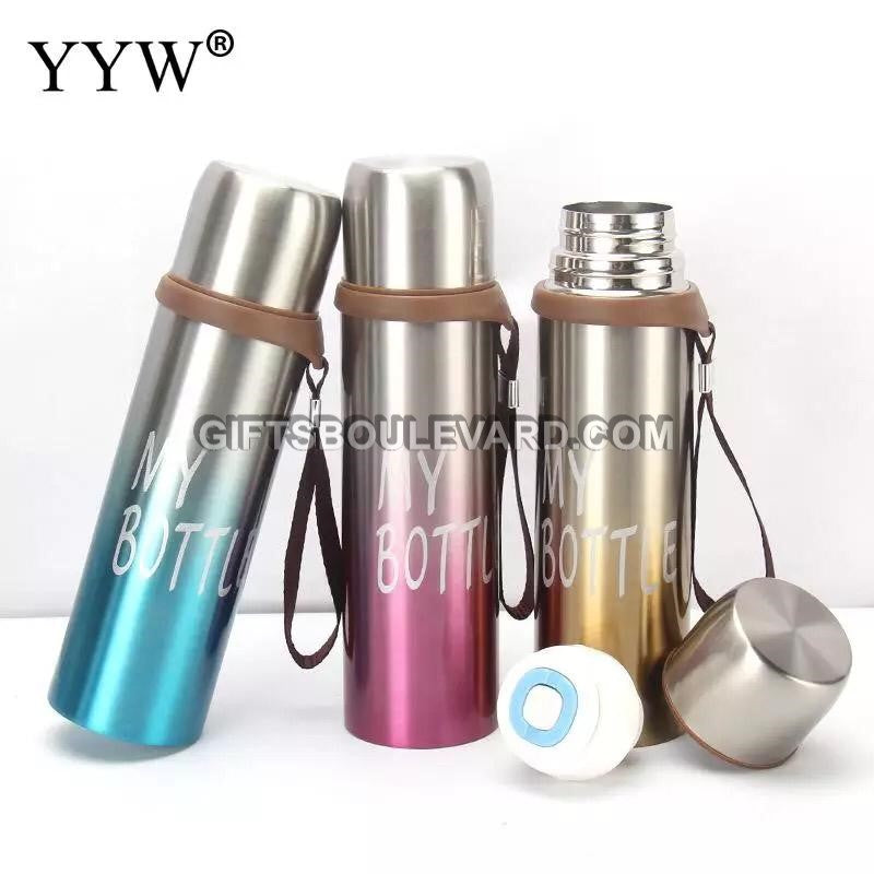 650ml Gradient Thermos Mug With Strainer Termos Portable Water Bottle Thermos Coffee Cup Stainles Steel Thermal Vacuum Flask