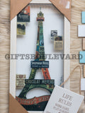 Eifel Tower Wooden Wall Hanging