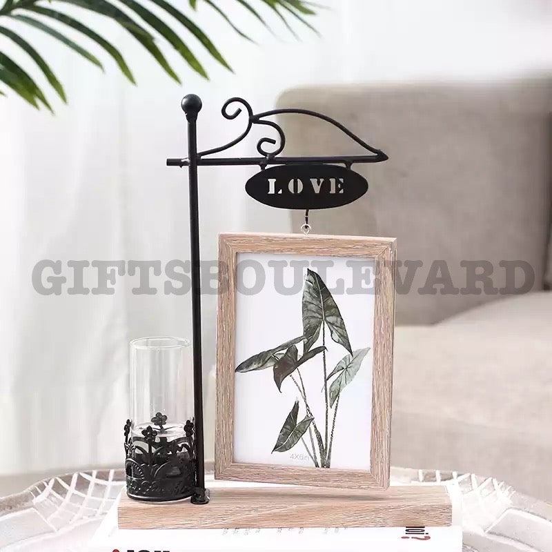 Creative Hydroponic Plant Frame Set Wooden Photo Frame