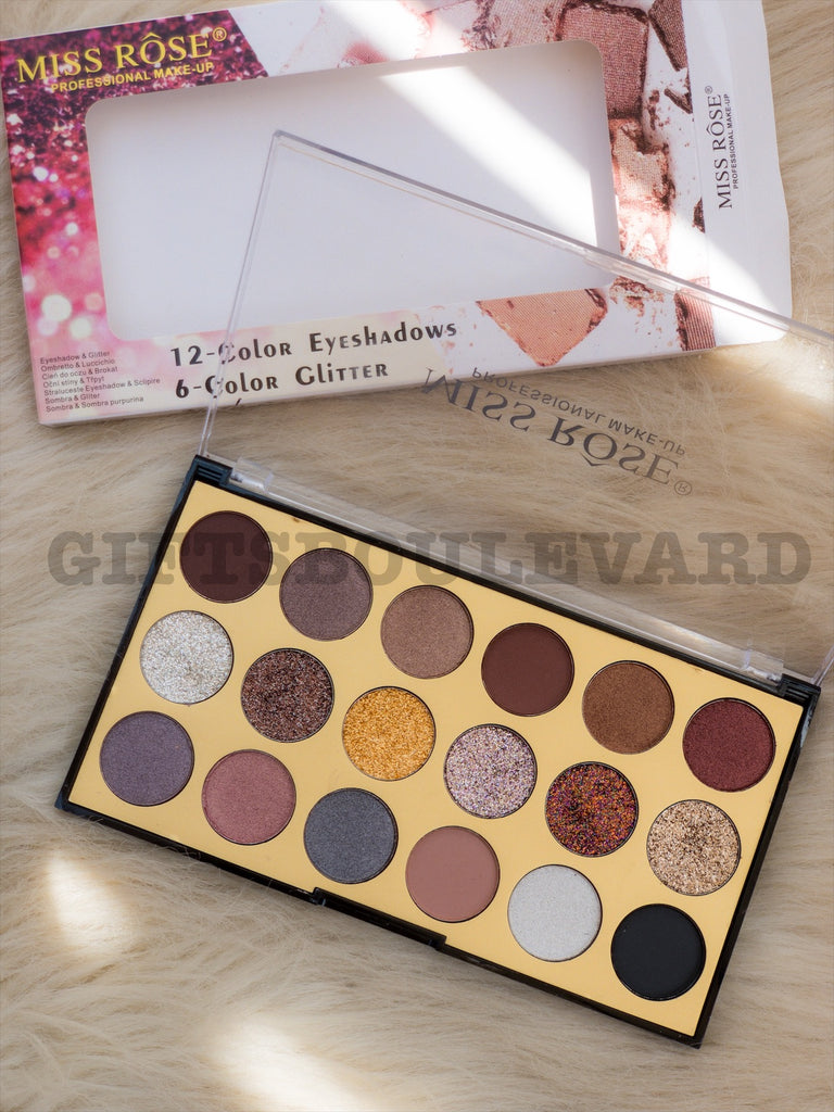 18 Shades Professional Eyeshadow Palette