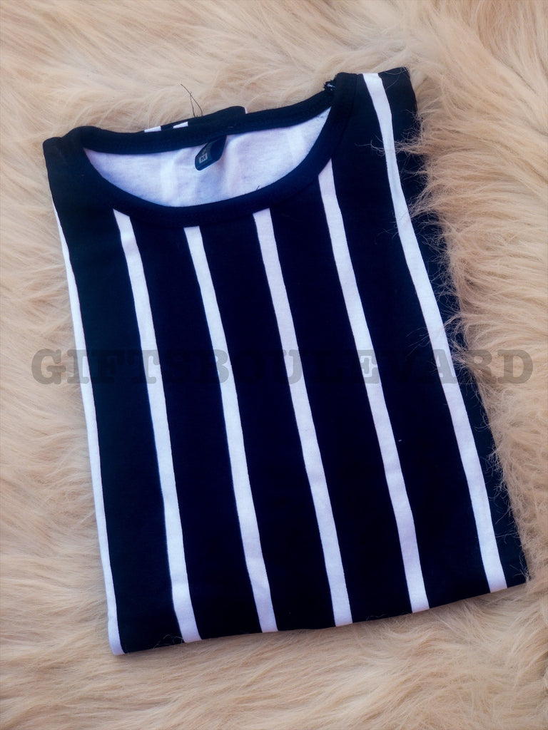 Panel Stripe T-Shirt