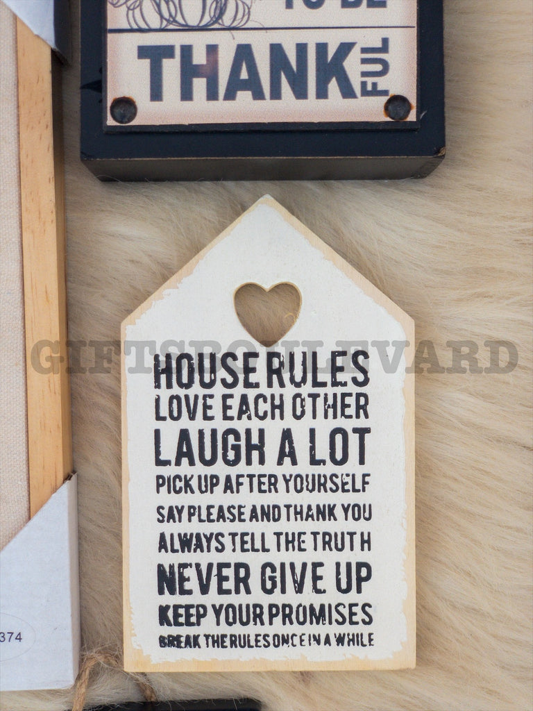 House Rules Mini Wall Hanging