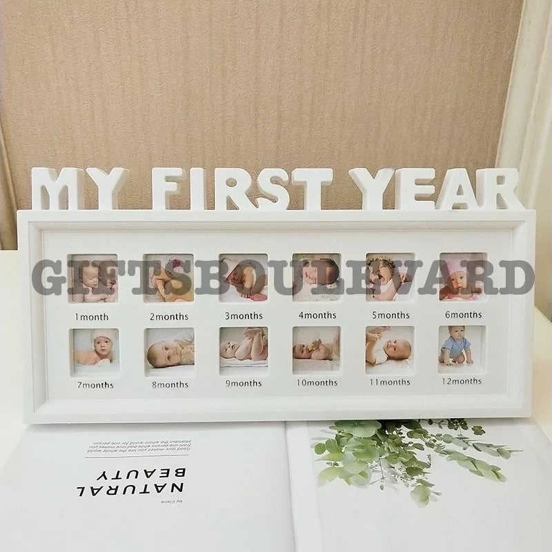 "Baby Photo Frame Baby Souvenirs DIY 0-12 Month Baby ""MY FIRST YEAR"" Photo Frame"
