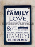 Our Family Wooden Wall Hanging