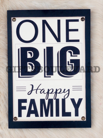 One Big Family hanging Sign Wall Decor