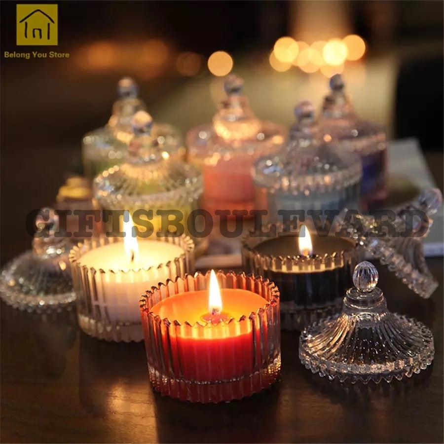 Glass Incense Candle Smokeless Scented Candle