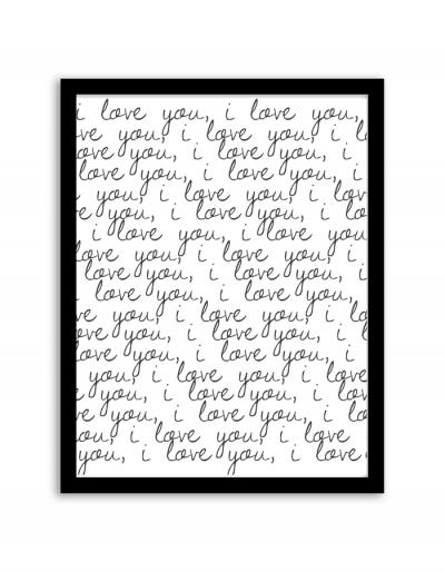 I Love U Wall Art Frame
