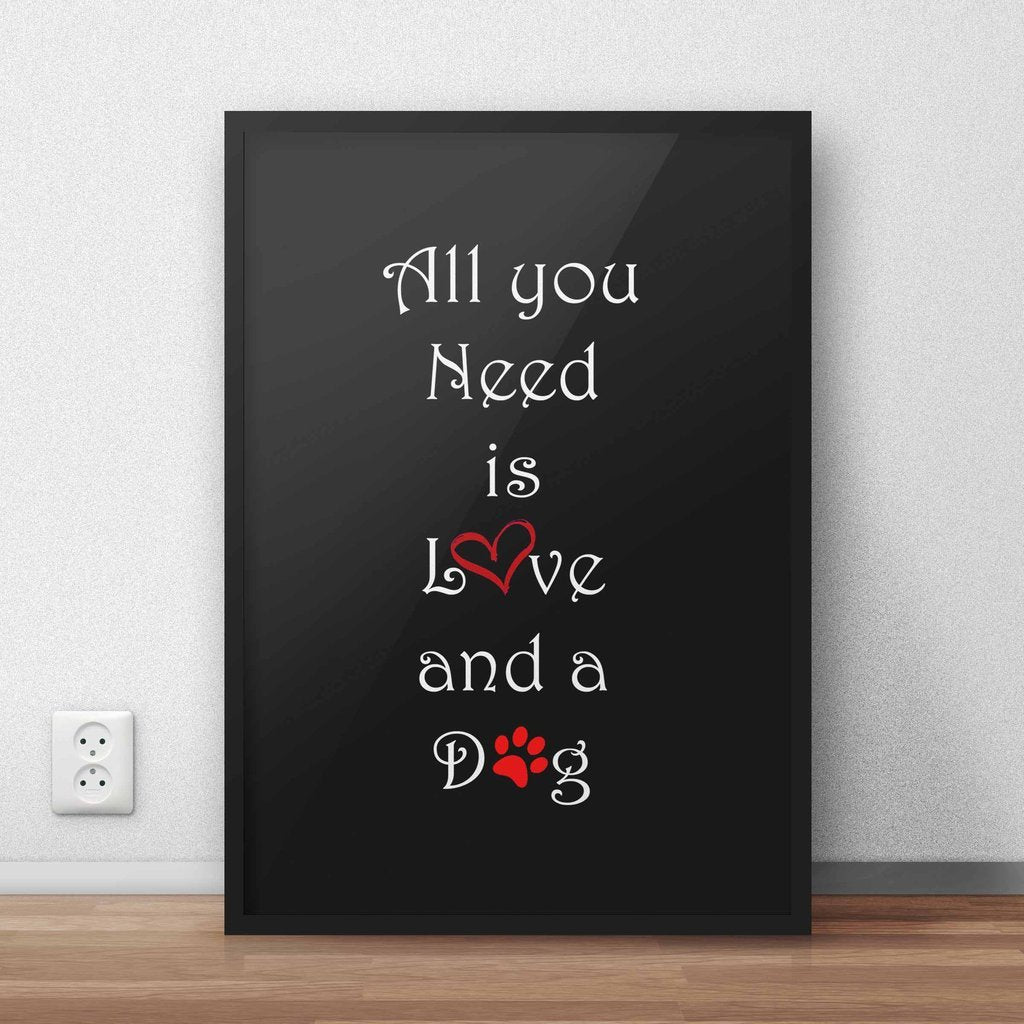 Love And A Dog Wall Art Frame