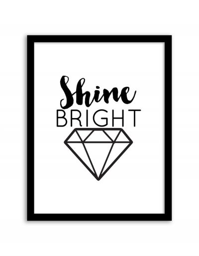 Shine Bright Wall Art Frame