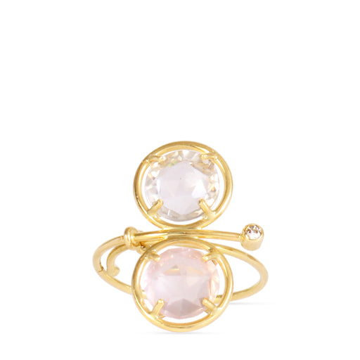 gold ring with semi-precious stones and diamonds
