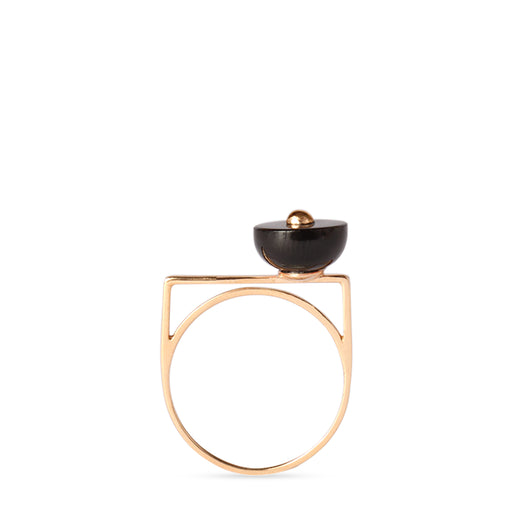gold ring with semi-precious stones