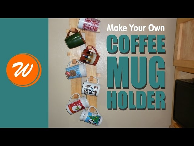 Need a way to hang your coffee mugs on the wall? I will show you how I made a simple coffee mug holder/hanger out of a piece of scrap 1x10 pine