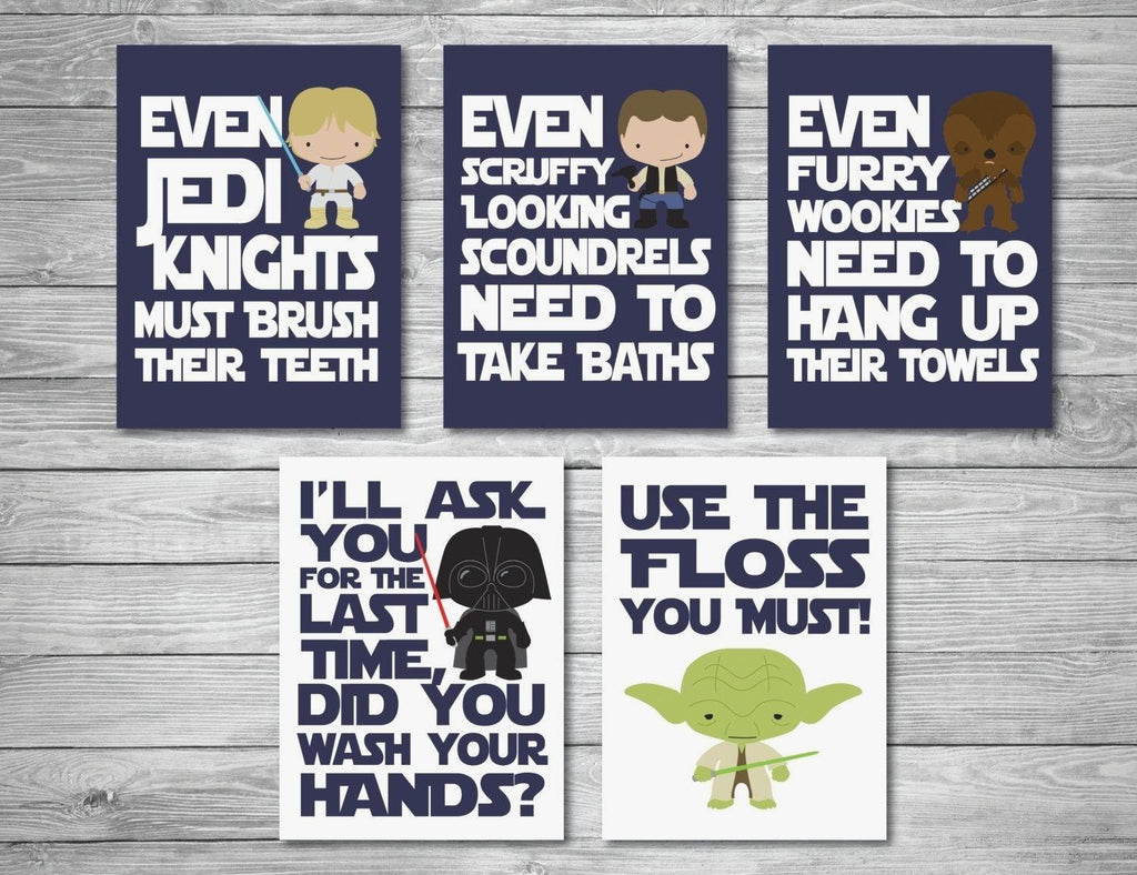 Scenic Star Wars Bathroom Decor