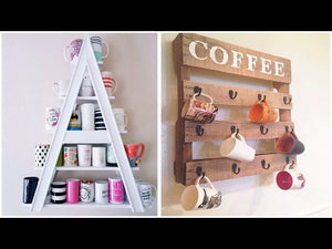 Top 40 Amazing Coffe Cups Organizing Ideas | DIY Craft Bar Ideas Mug Holder Milkmaid Recycling 2018 -- Looking for upgrade or inspiration about cup storage ...