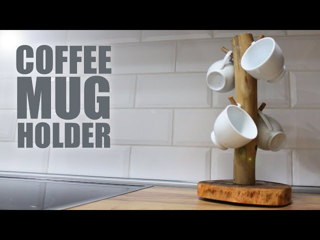 This video shows how to make coffee mug holder or stand out of log wood