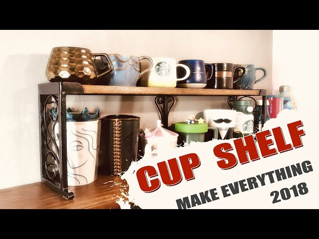 I bought some new coffee cups, I make a small coffee cup shelf using some steel and wood.In the video, I showed the production process.