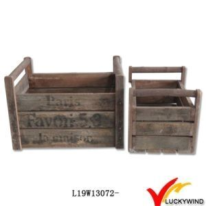 Dishy Antique Wooden Crates