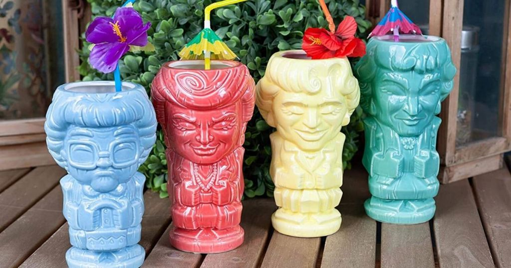 These Golden Girls Tiki Mugs Are a Must-Have for Your Quarantine Cocktails