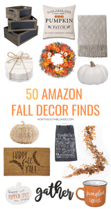 From decorative pumpkins to wreaths and cozy mugs for the campfire, here is your Amazon shopping guide to everything fall!