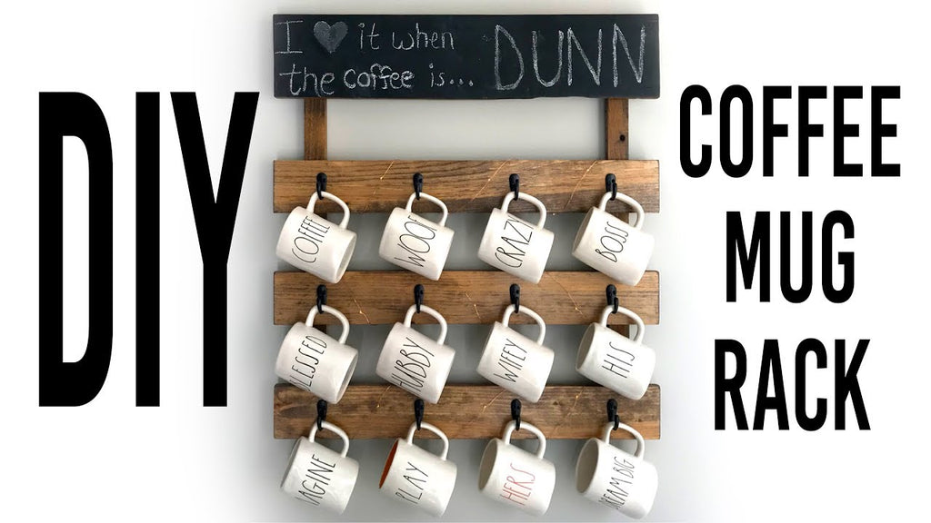 Hey Guys! I hope you liked my DIY Coffee Mug Rack tutorial! I had a lot of fun making it, and it was actually much easier to make than you would think! I just used ...