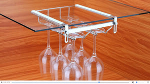 Stemware rack with mug holder, nail free, drilling free.