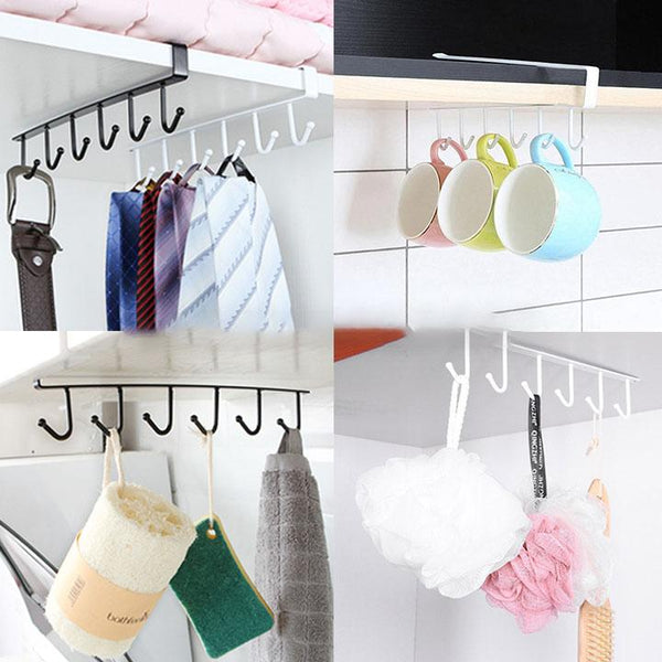 【Hot Sale Now】Cabinet Hook Mug Holder(6 Hooks)