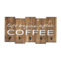 "Oversized Sign - Life Begins After Coffee Mug Holder 25"" X 13"""