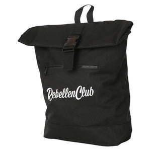 Rebellenclub Rugzak Roll-top Black