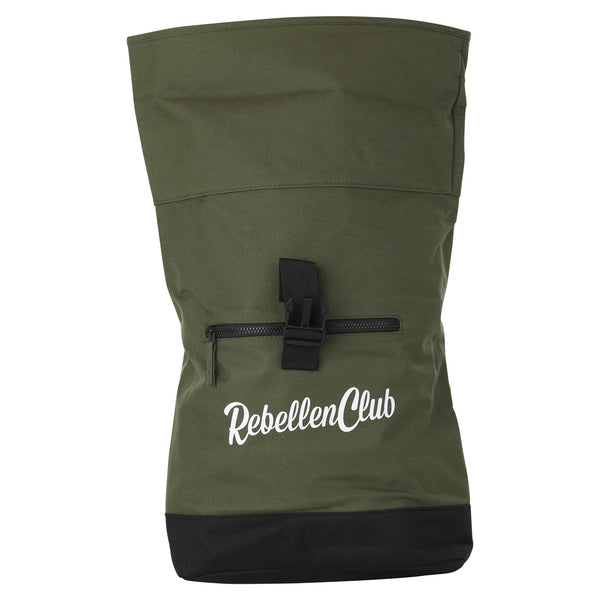 Rebellenclub Rugzak Roll-top Groen - Rebellenclub