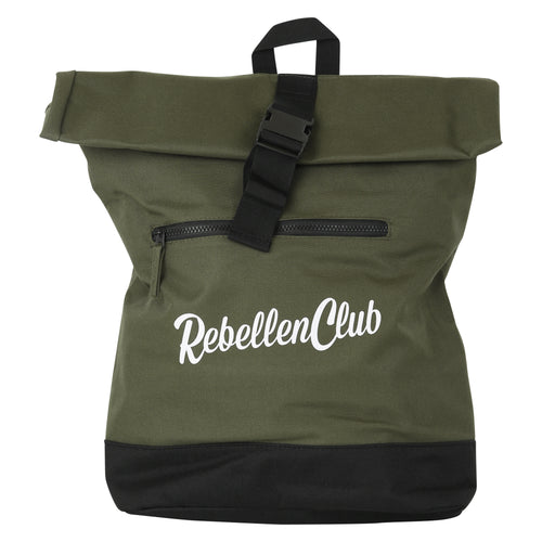 Rebellenclub Rugzak Roll-top Groen